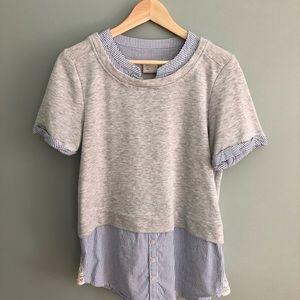 Anthropologie sweatshirt/shirt combo